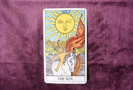 タロットカード・大アルカナ「太陽」:「陰」が濃縮されるほど「陽」が輝きを増していく