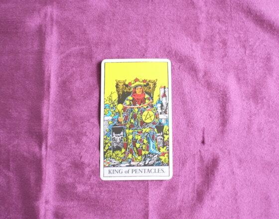 タロットカード・コートカード「ペンタクルのキング」:全てをて人れた男が見る「景色」
